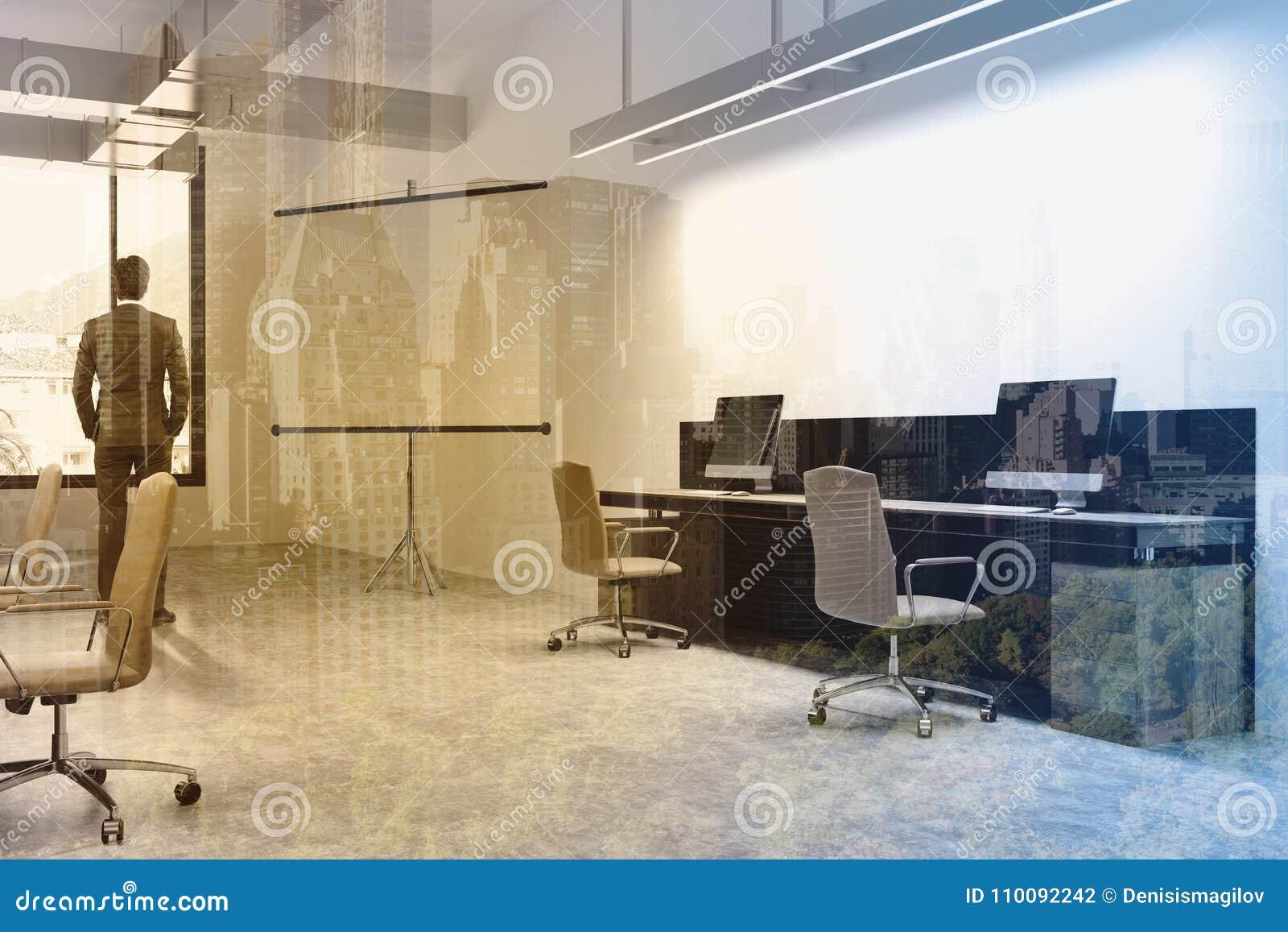 Intérieur de bureau écran pour des présentations modifiées la