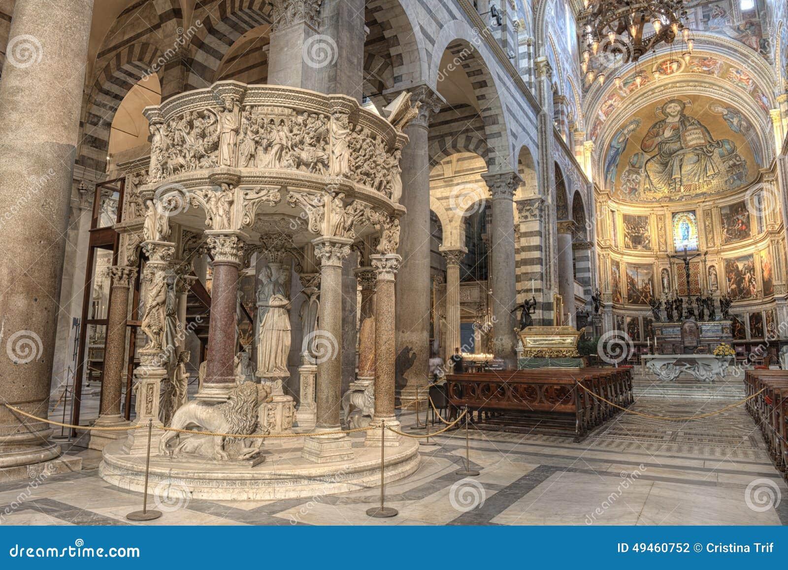 Int rieur de cath drale de pise italie photo stock image 49460752 - Tour de pise interieur ...