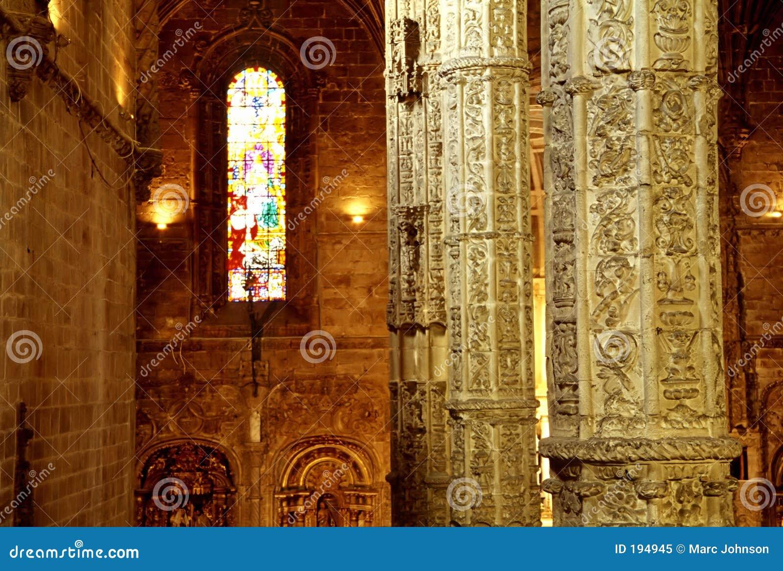 Intérieur de cathédrale, Lisbonne