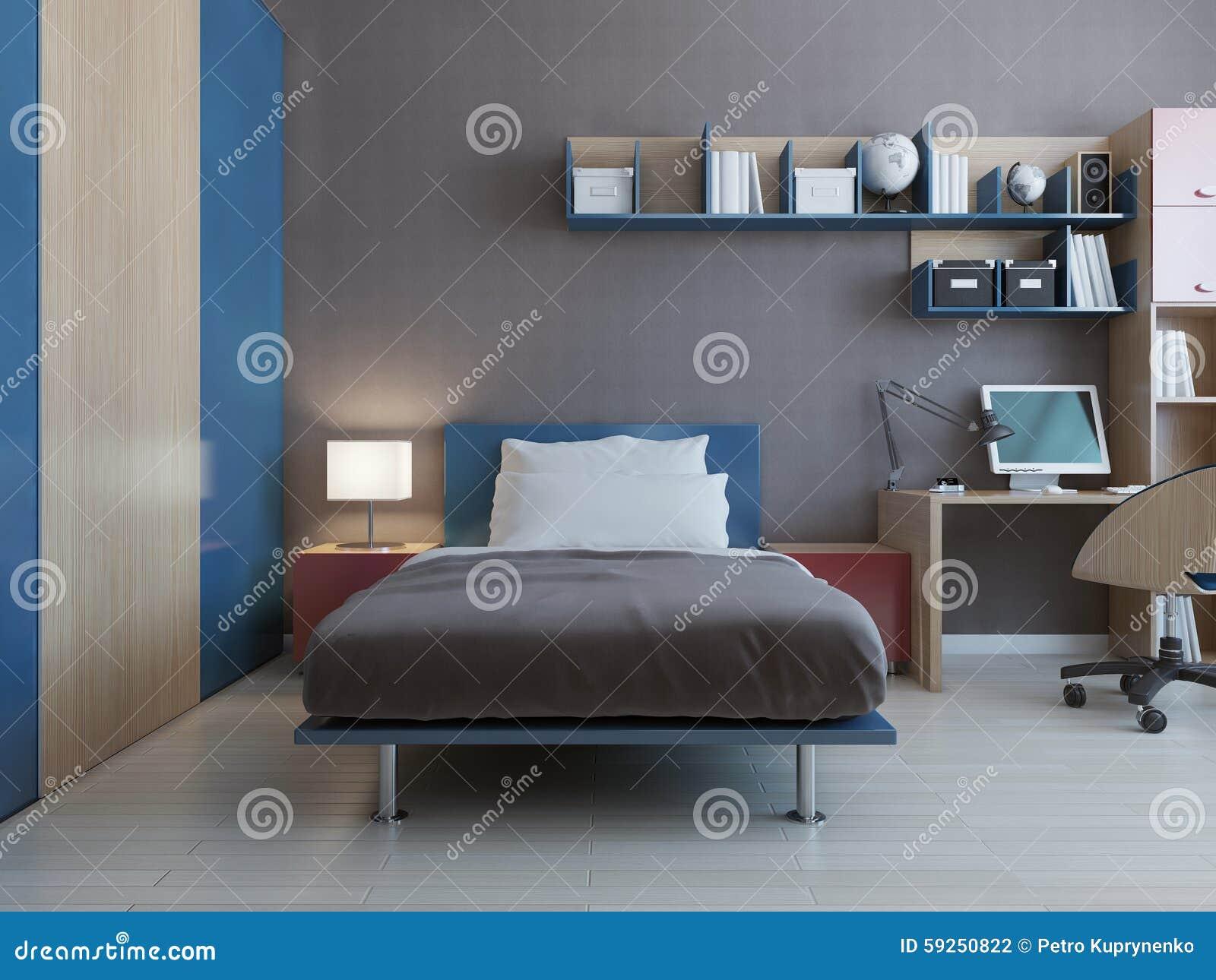 Intérieur De Chambre à Coucher D\'adolescent Illustration ...