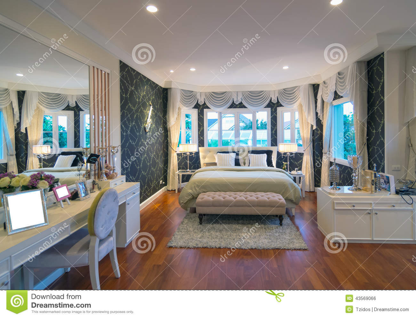 Int rieur de chambre coucher d 39 architecture du r gent for Interieur de chambre a coucher