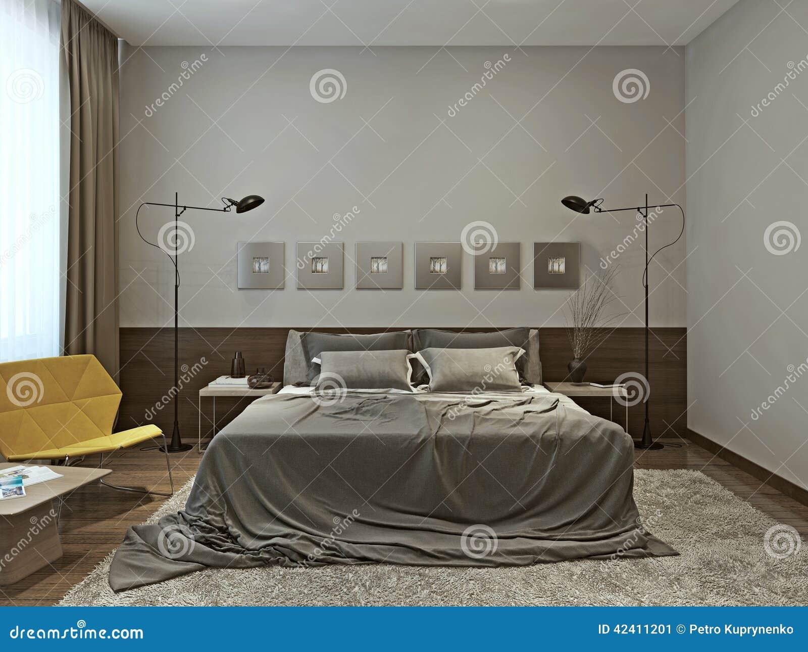 Chambre à Coucher Dans Le Style Contemporain Image stock - Image du ...