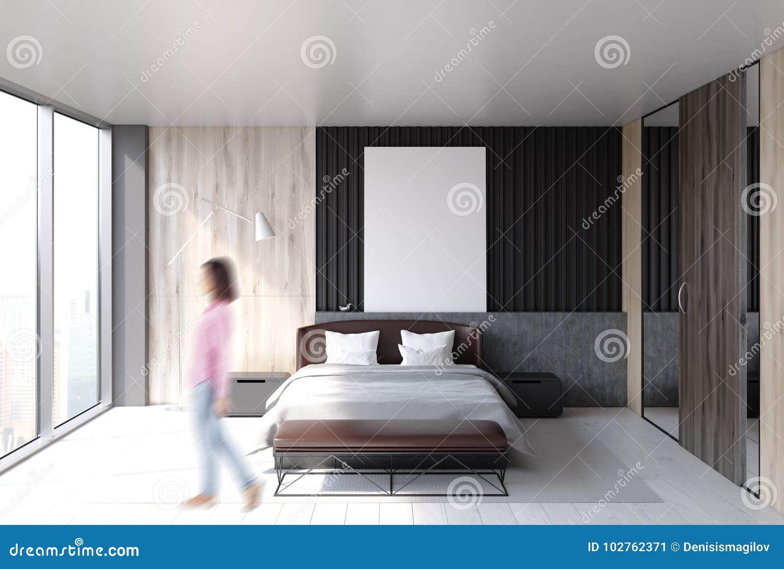 Intérieur De Chambre à Coucher De Grenier, Affiche, Femme