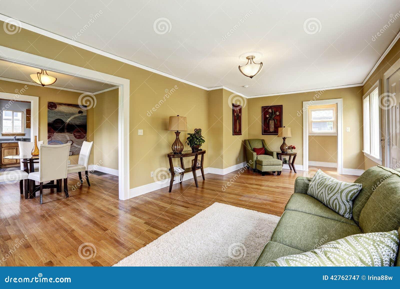 Int Rieur De Chambre Avec L Espace Ouvert Le Salon Avec Diner Sont