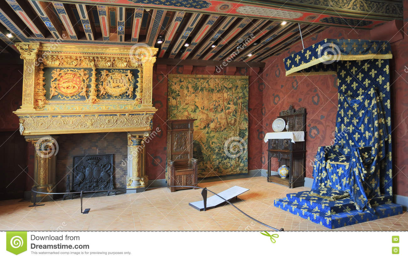 Int rieur de chateau de blois france image stock for Interieur frans
