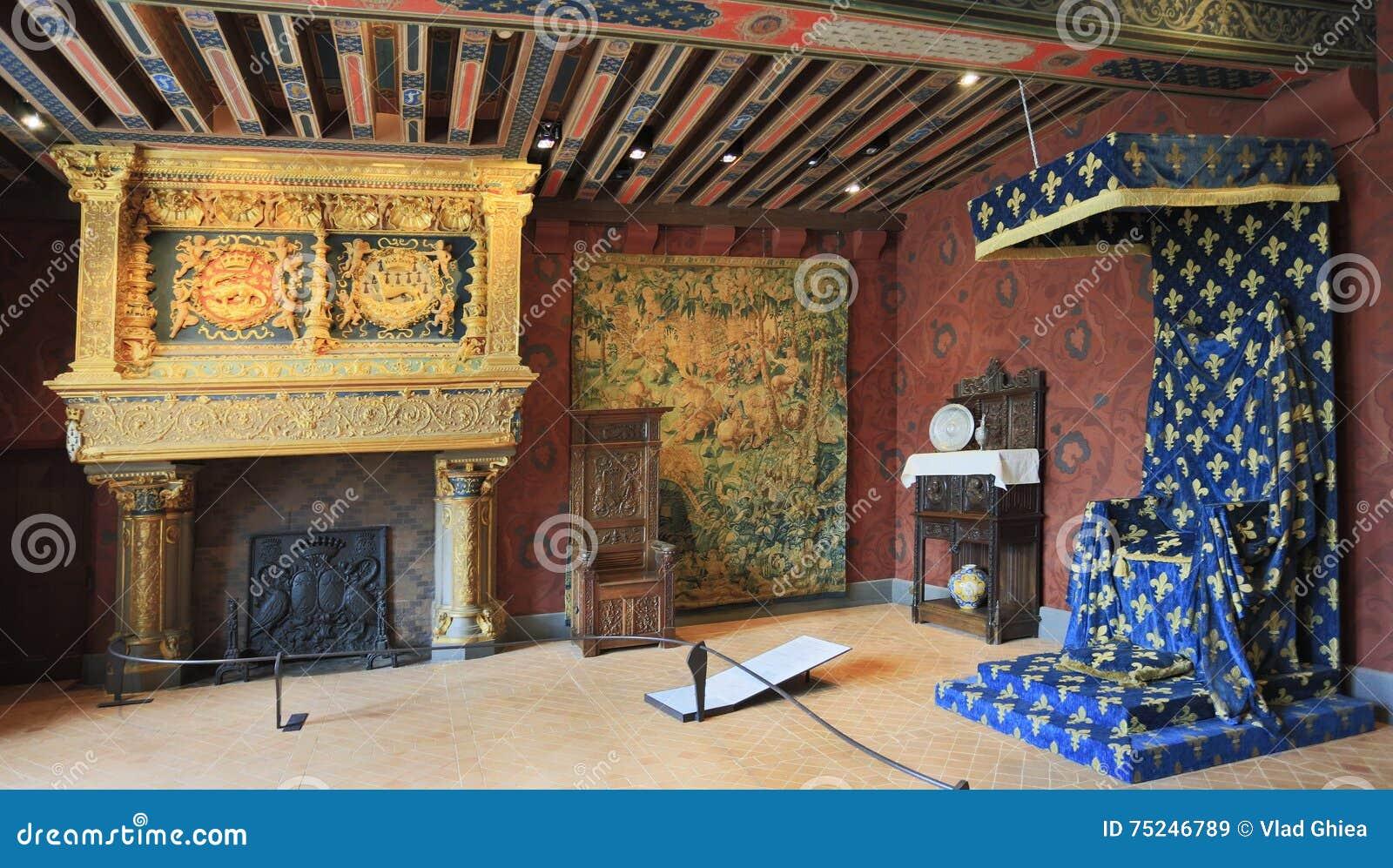 Int rieur de chateau de blois france image stock for France interieur
