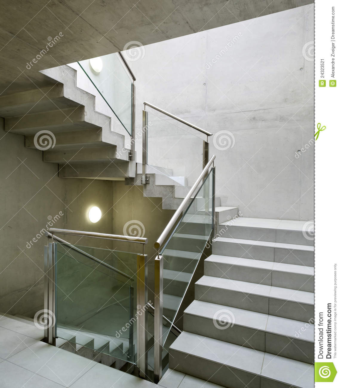 int rieur de construction escalier image stock image