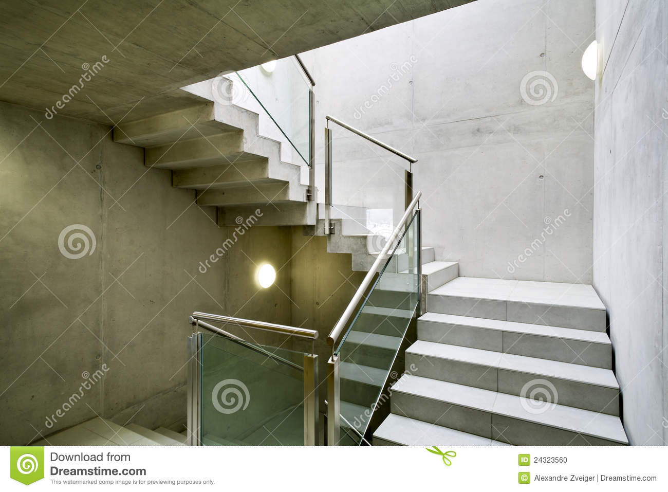 int rieur de construction escalier photo stock image