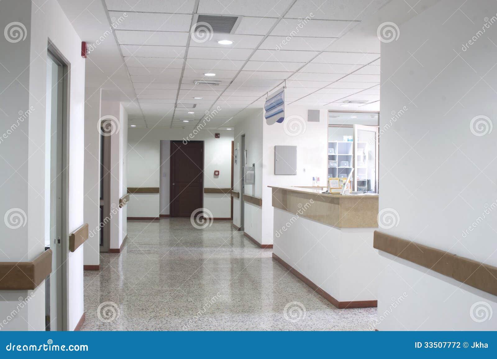 Int Rieur De Couloir L 39 Int Rieur D 39 Un H Pital Moderne Photographie Stock Image 33507772