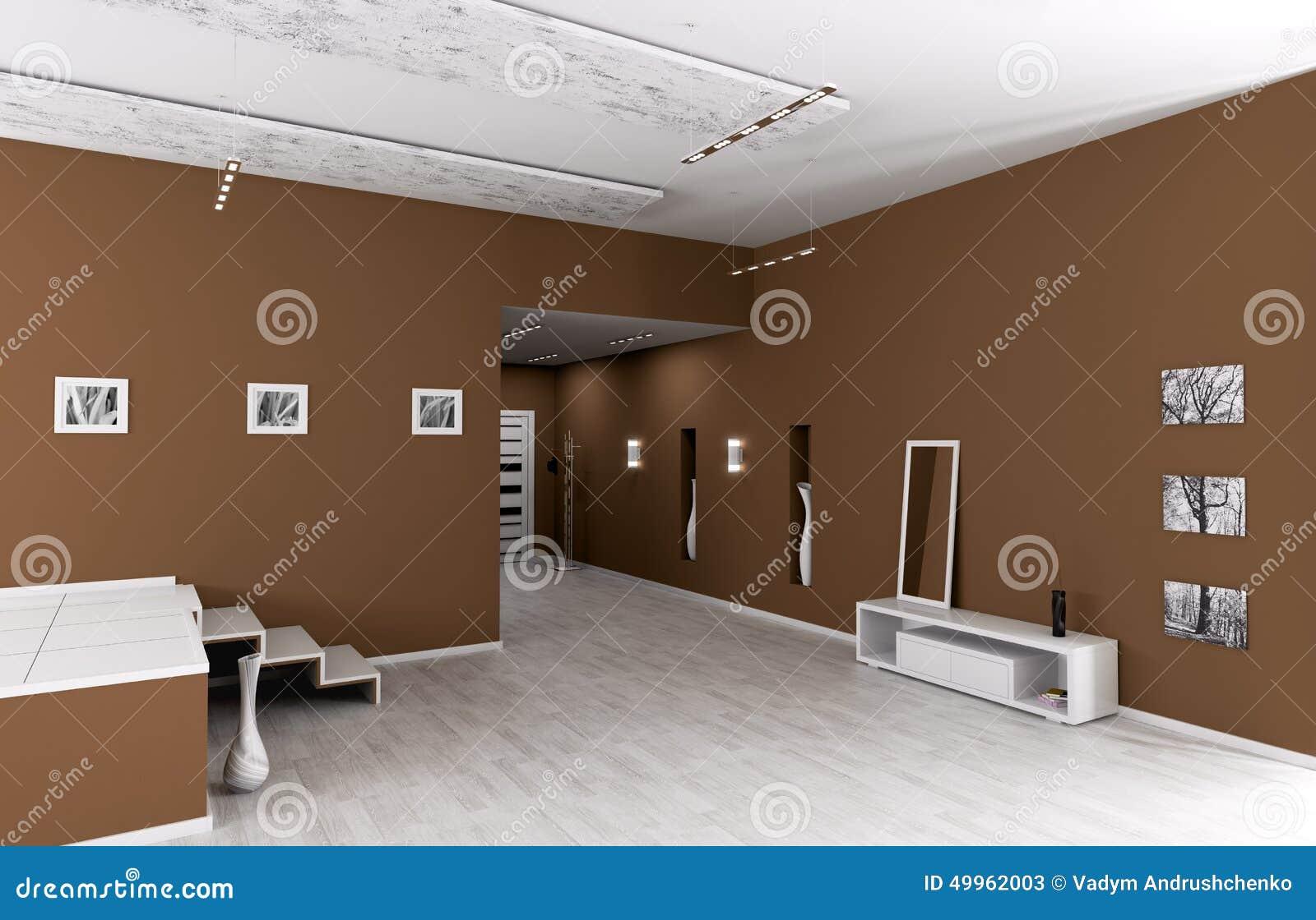 int rieur de hall d 39 entr e moderne illustration stock. Black Bedroom Furniture Sets. Home Design Ideas