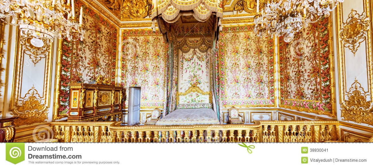 Int rieur de la chambre coucher de la reine photo ditorial image 38830041 for Chateau de versailles interieur