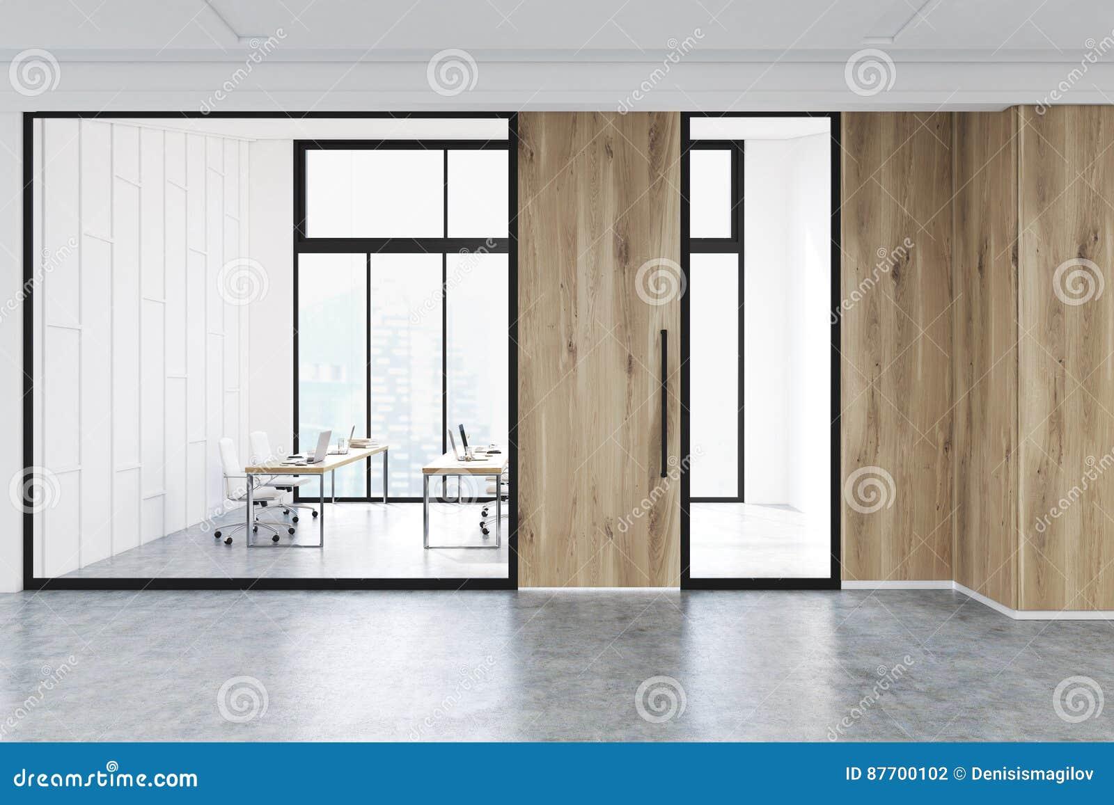 Intérieur de lobby moderne de bureau, verre