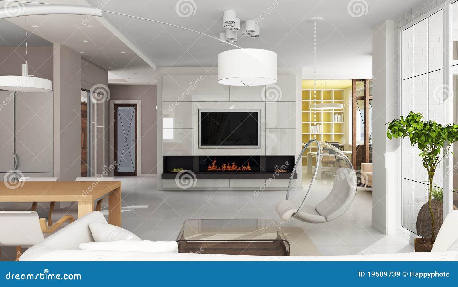 int rieur de luxe d 39 appartement avec la chemin e images. Black Bedroom Furniture Sets. Home Design Ideas