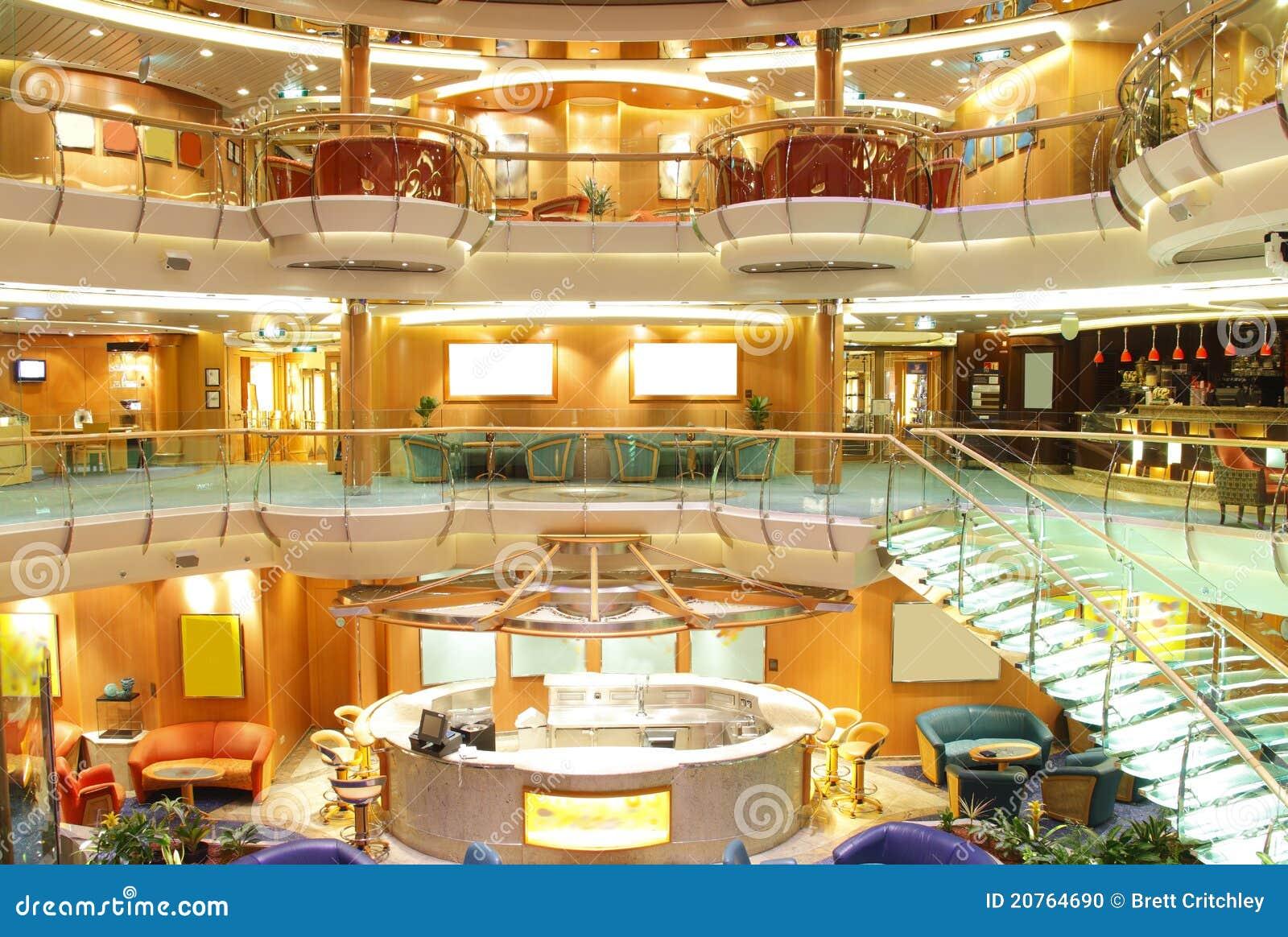 int rieur de luxe de bateau de croisi re image ditorial