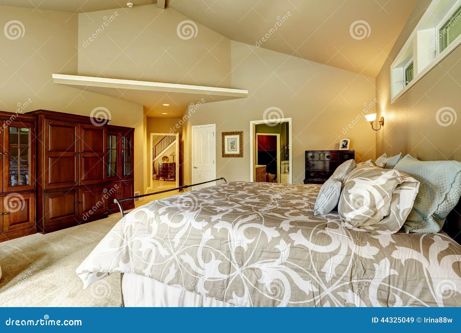 Int rieur de luxe de maison chambre coucher avec le for Chambre a coucher de luxe