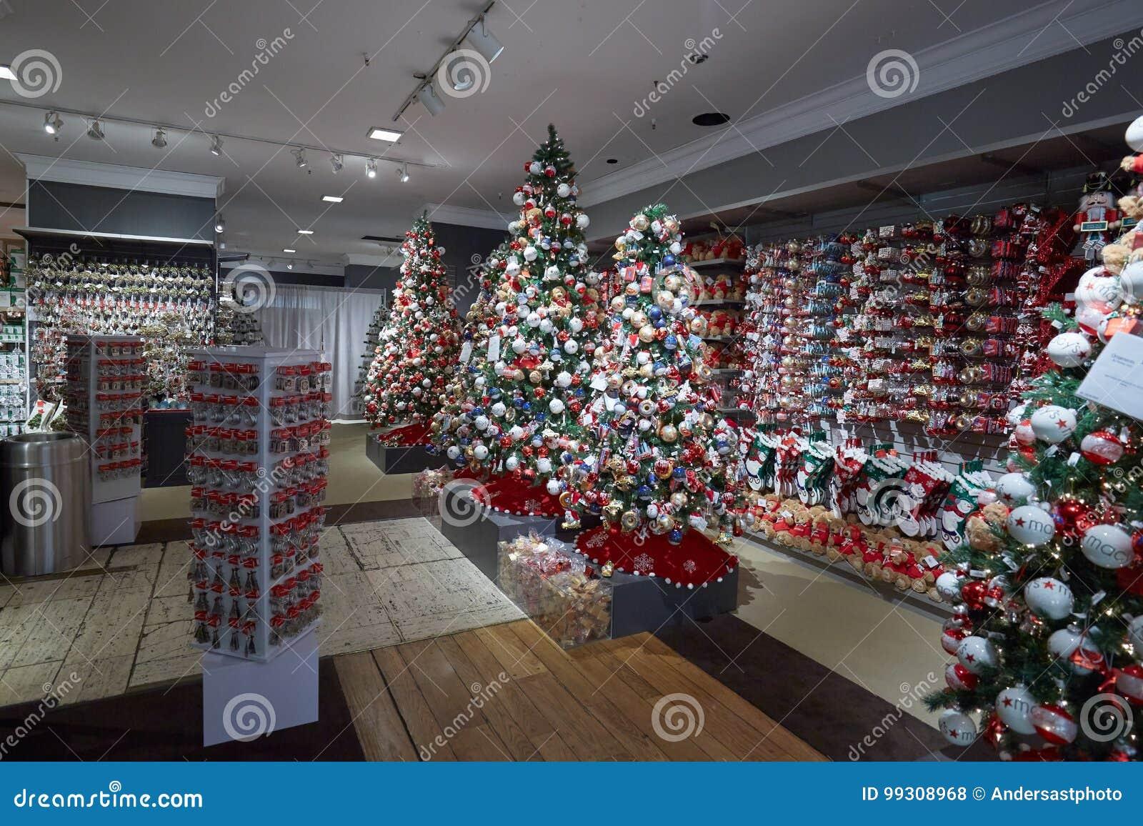 Intérieur De Magasin De Macy, Décorations De Noël à New York Photo ...