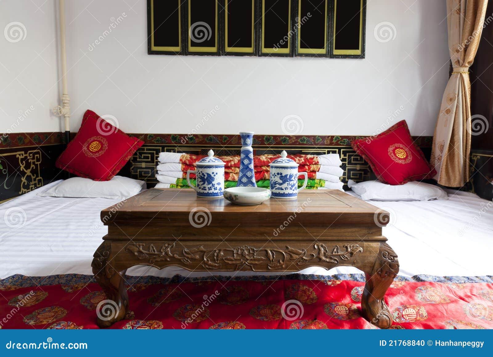 Intérieur de maison de chinois traditionnel