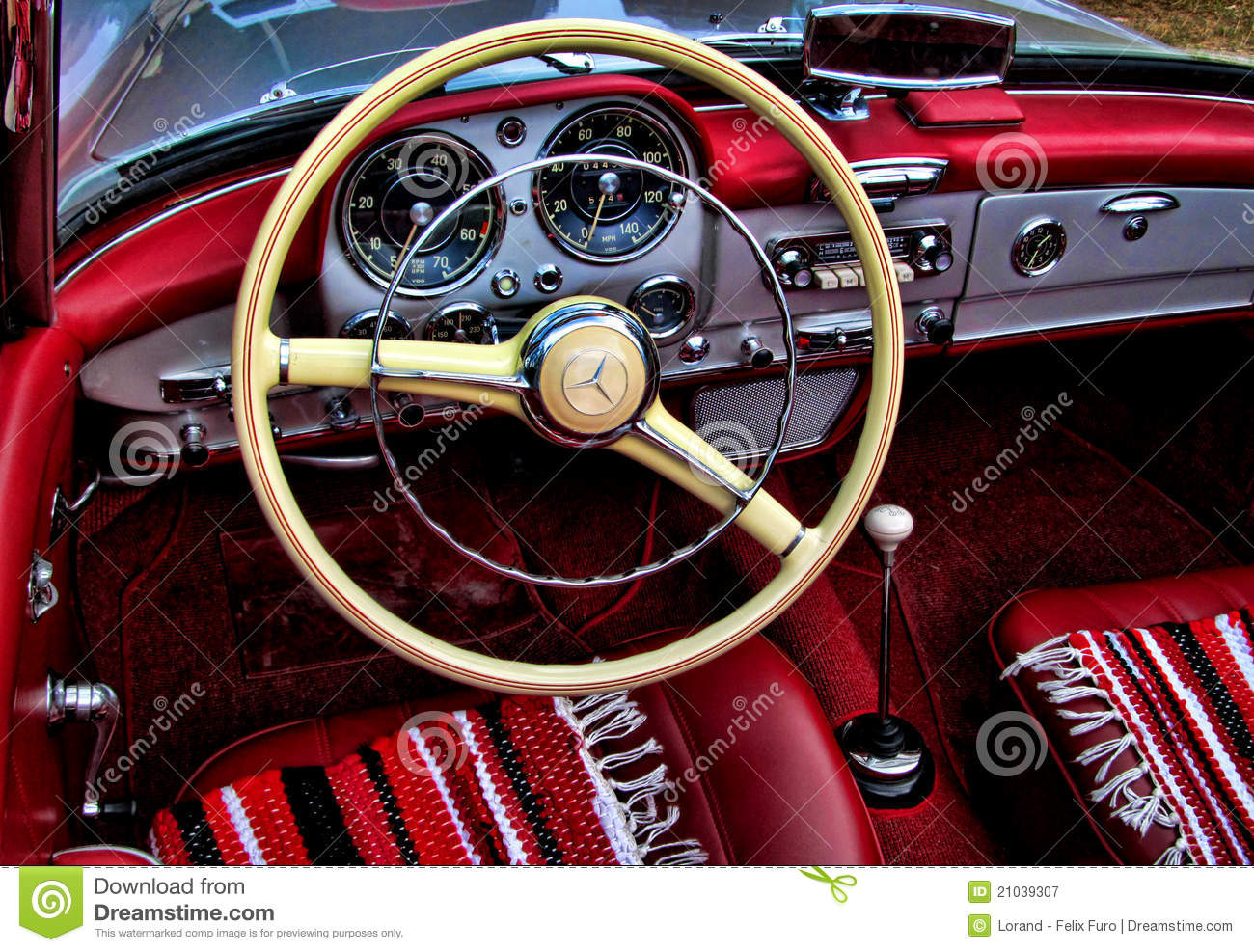 Int rieur de mercedes benz 190sl photographie ditorial for Interieur mercedes 190