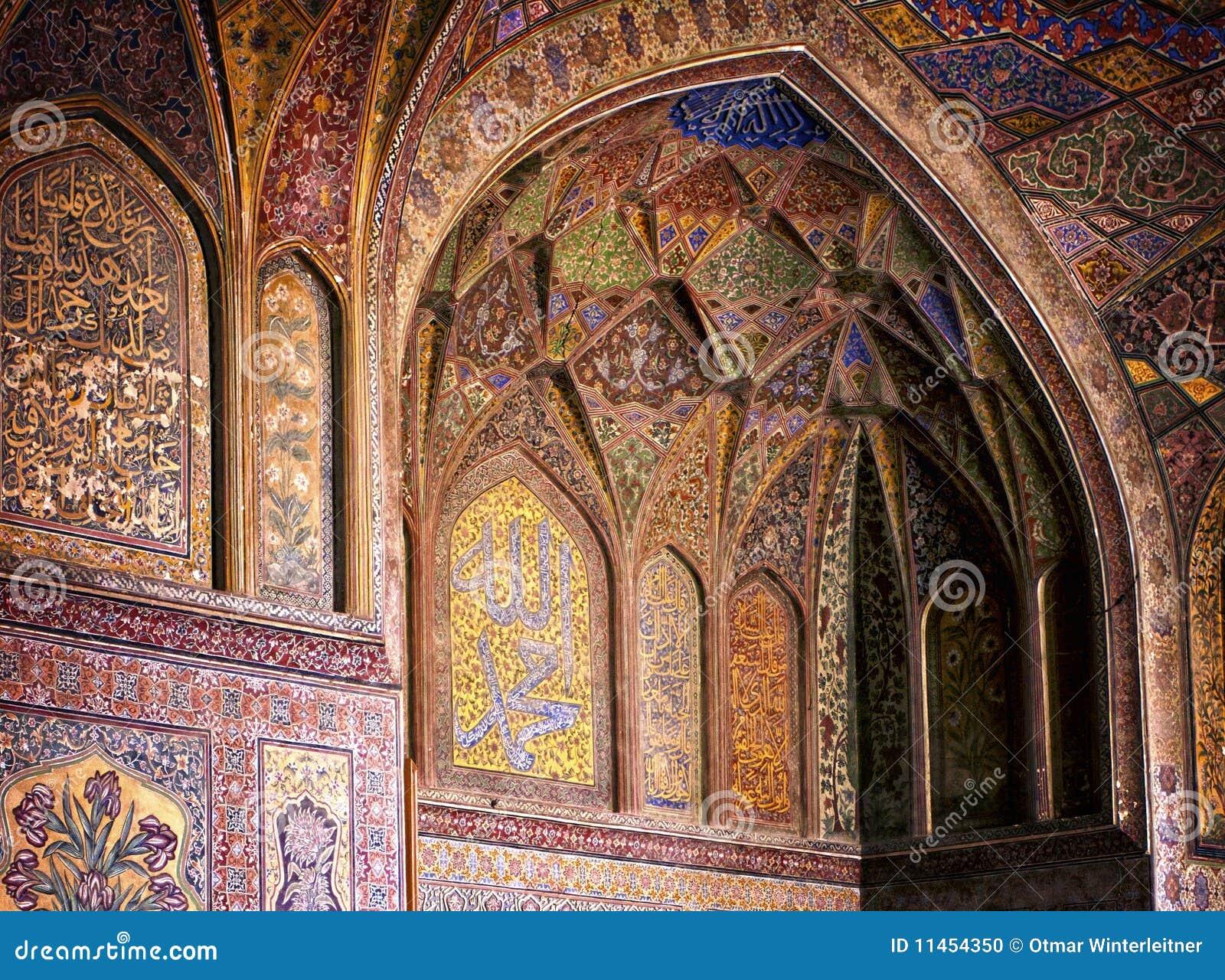 Intérieur de mosquée de Wazir Khan