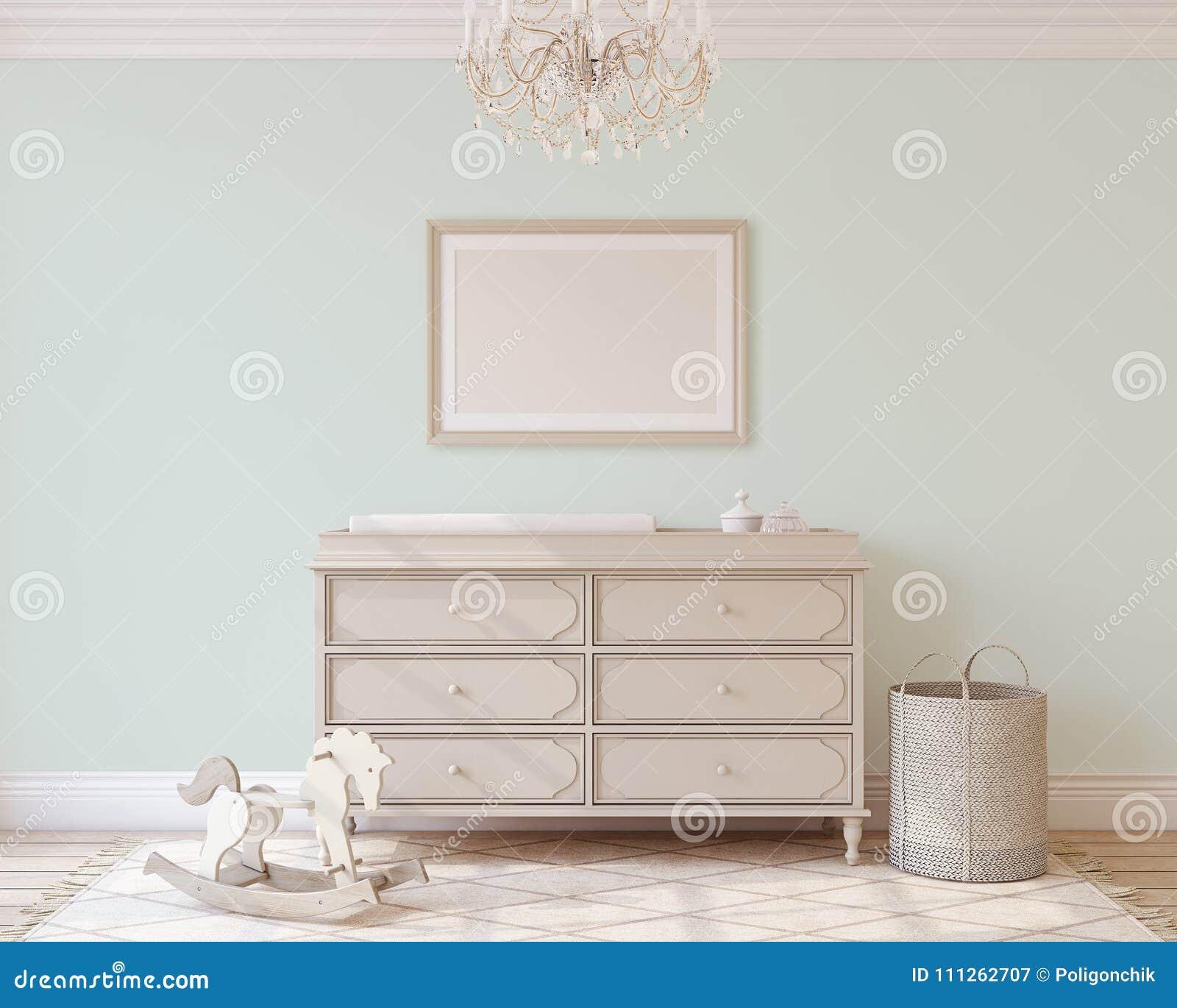 Interieur De Pepiniere 3d Rendent Illustration Stock Illustration
