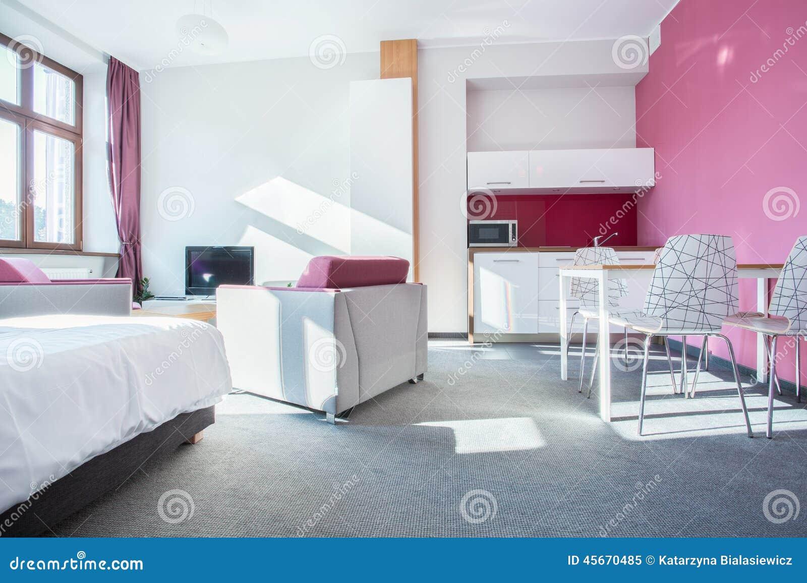 Int rieur de petit appartement moderne photo stock image 45670485 - Photo interieur appartement moderne ...