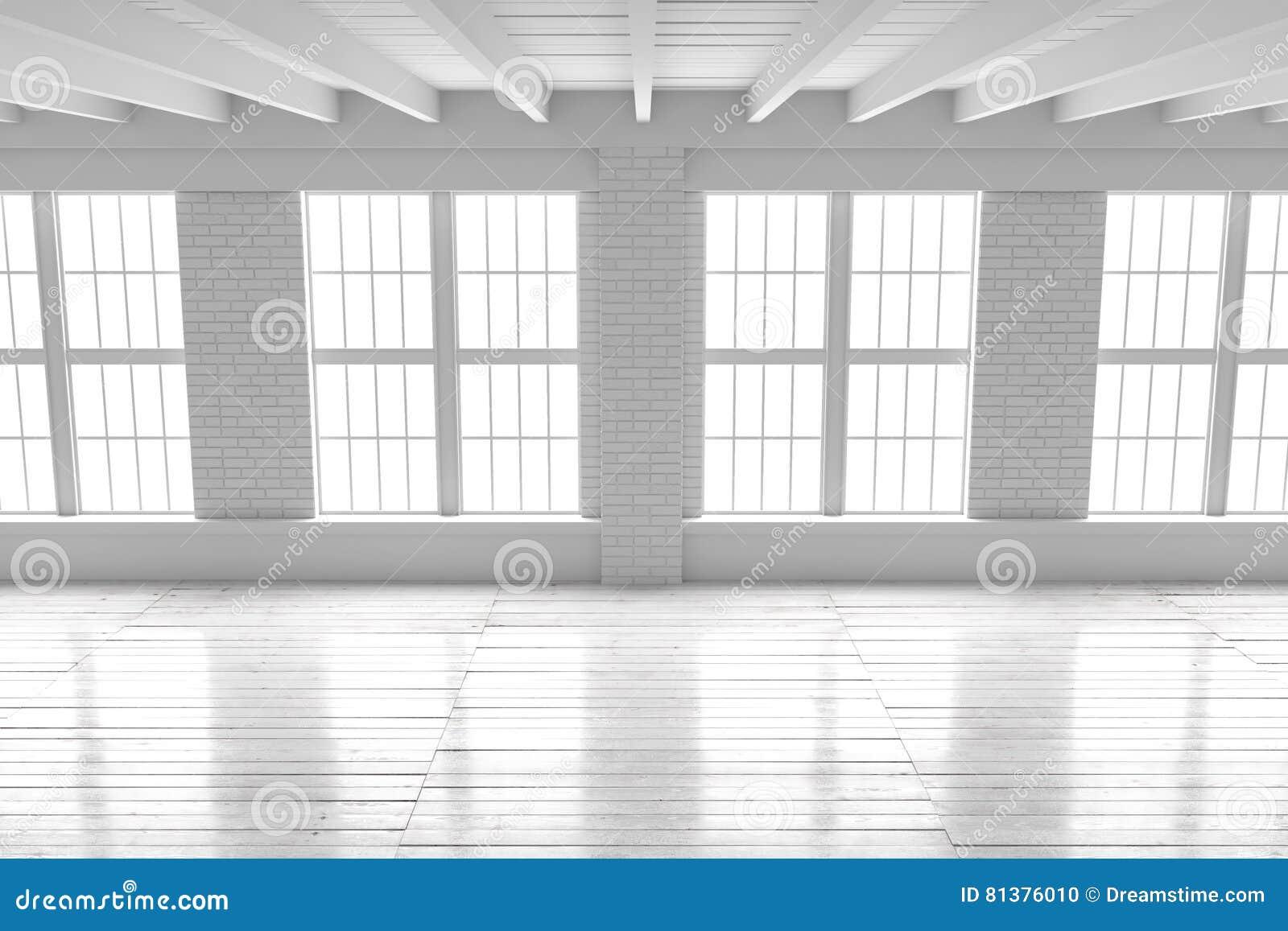 Download intérieur de pièce blanche maquette de grenier de lespace ouvert illustration stock