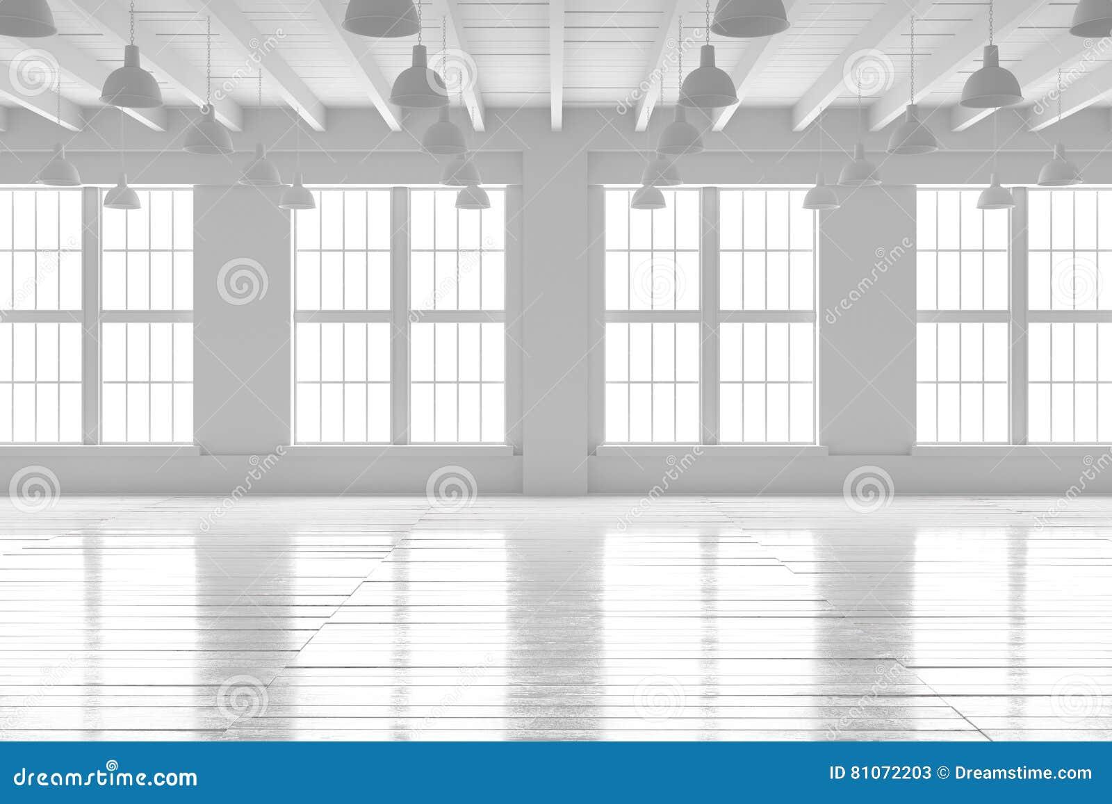 Intérieur de pièce blanche maquette de l espace ouvert