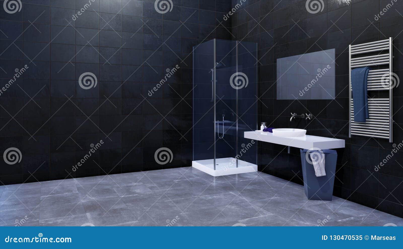 Intérieur De Salle De Bains Avec L\'espace De Copie Sur Le ...