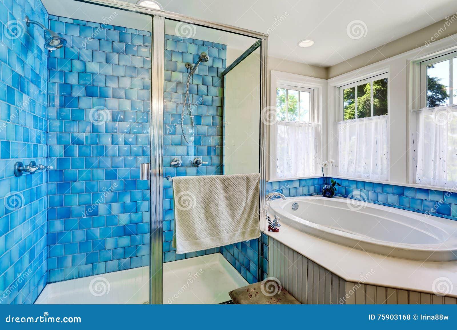 Deco Salle De Bain Zen Nature ~ Int Rieur De Salle De Bains Avec L Quilibre Bleu De Tuile Vue De