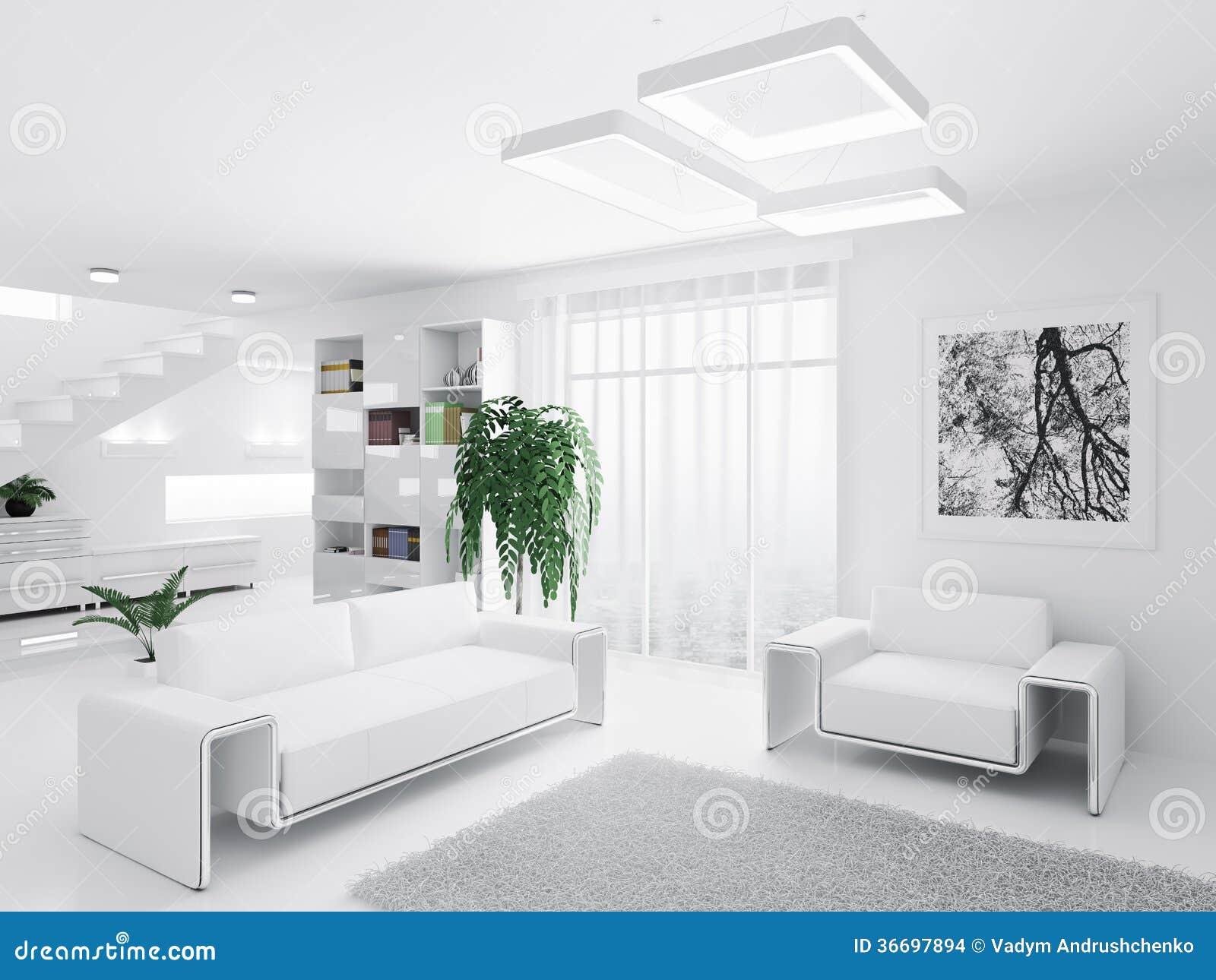 Int rieur de salon moderne images stock image 36697894 for Salon interieur moderne