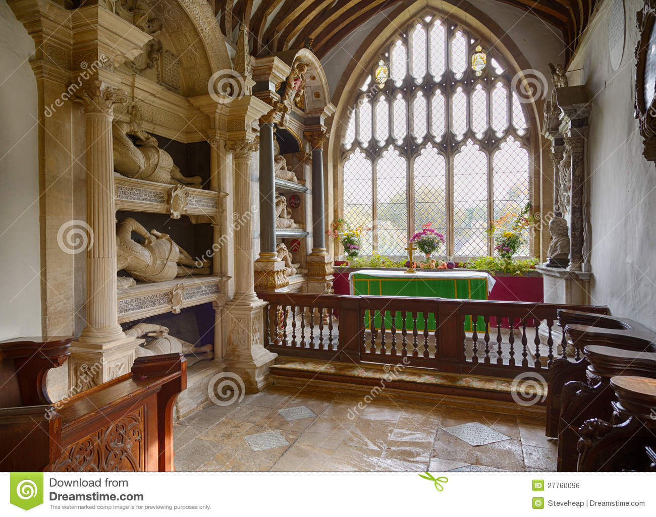 Intérieur de St Mary Church Swinbrook