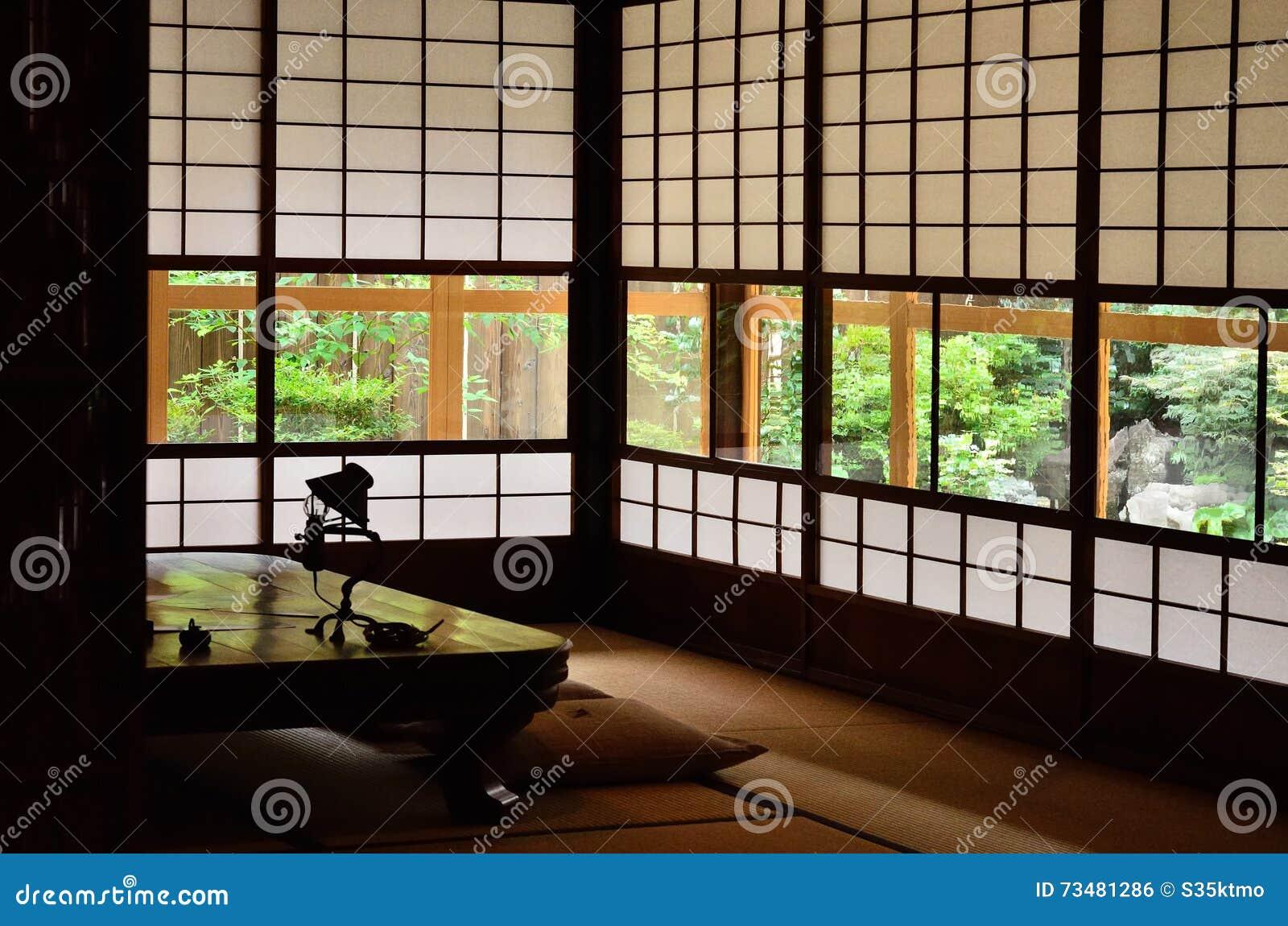 int rieur de style japonais traditionnel kyoto japon photo stock image 73481286. Black Bedroom Furniture Sets. Home Design Ideas