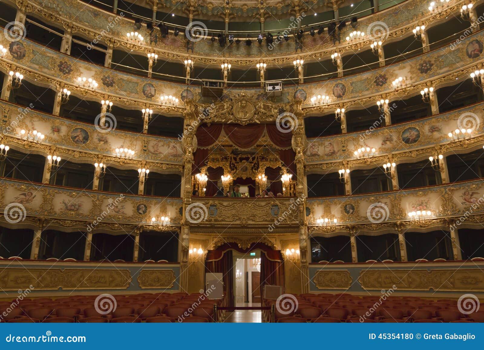 Intérieur de théâtre de Fenice de La
