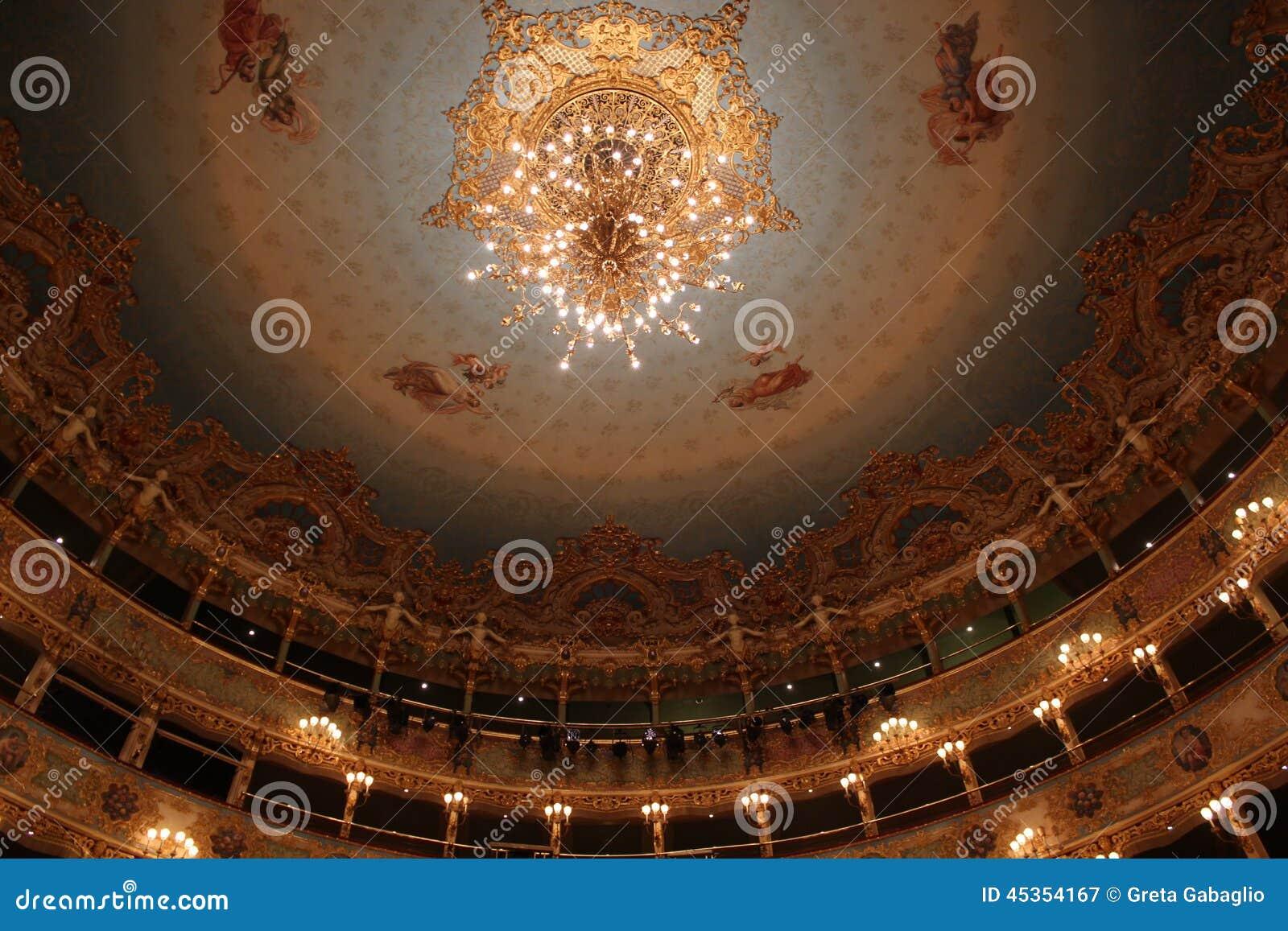 Intérieur de théâtre de Fenice de La, lustre