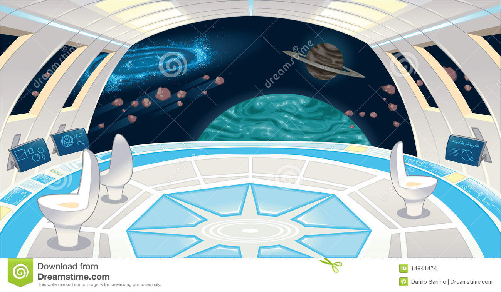 Intérieur de vaisseau spatial.