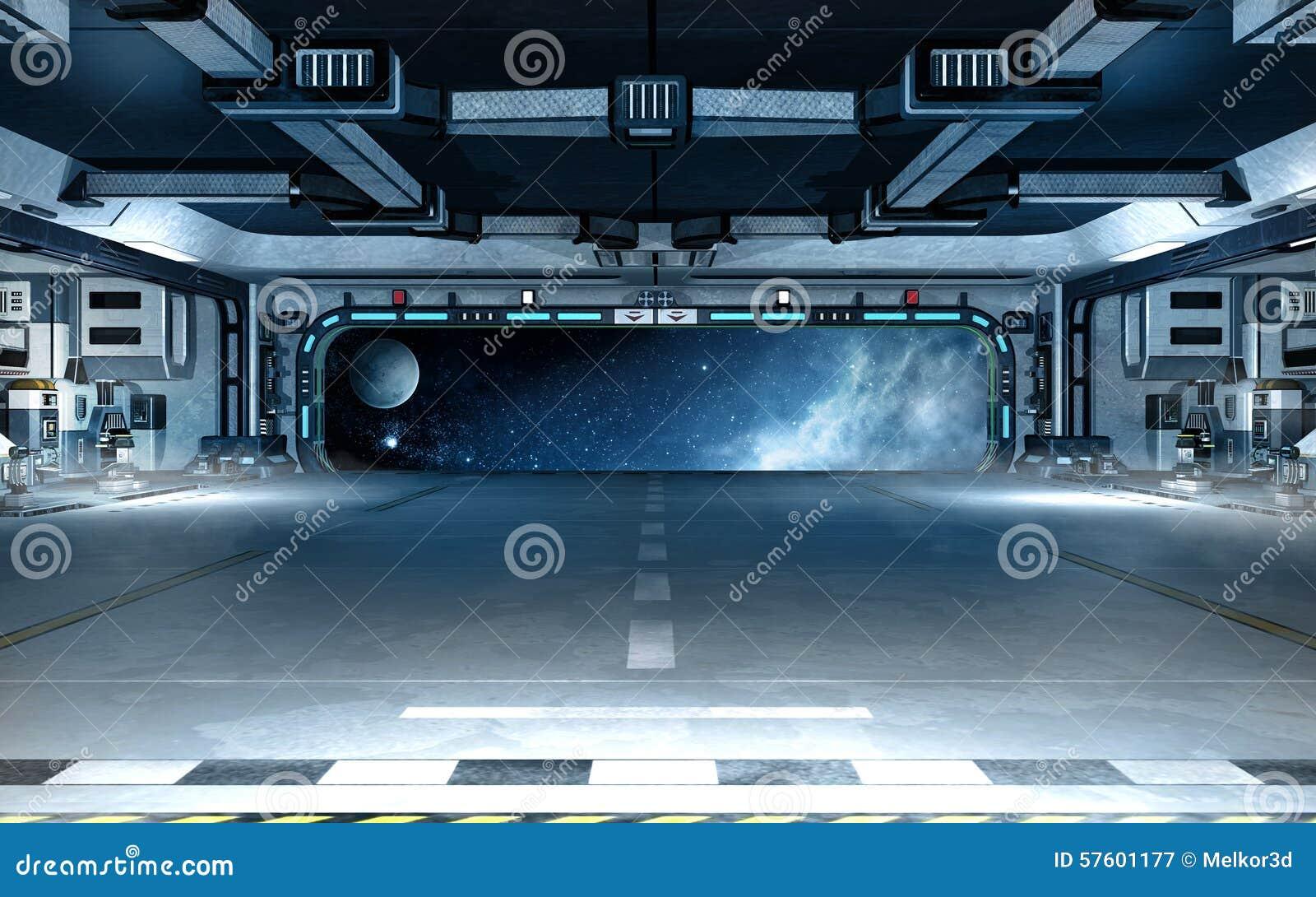 Int rieur de vaisseau spatial illustration stock image for Interieur vaisseau spatial