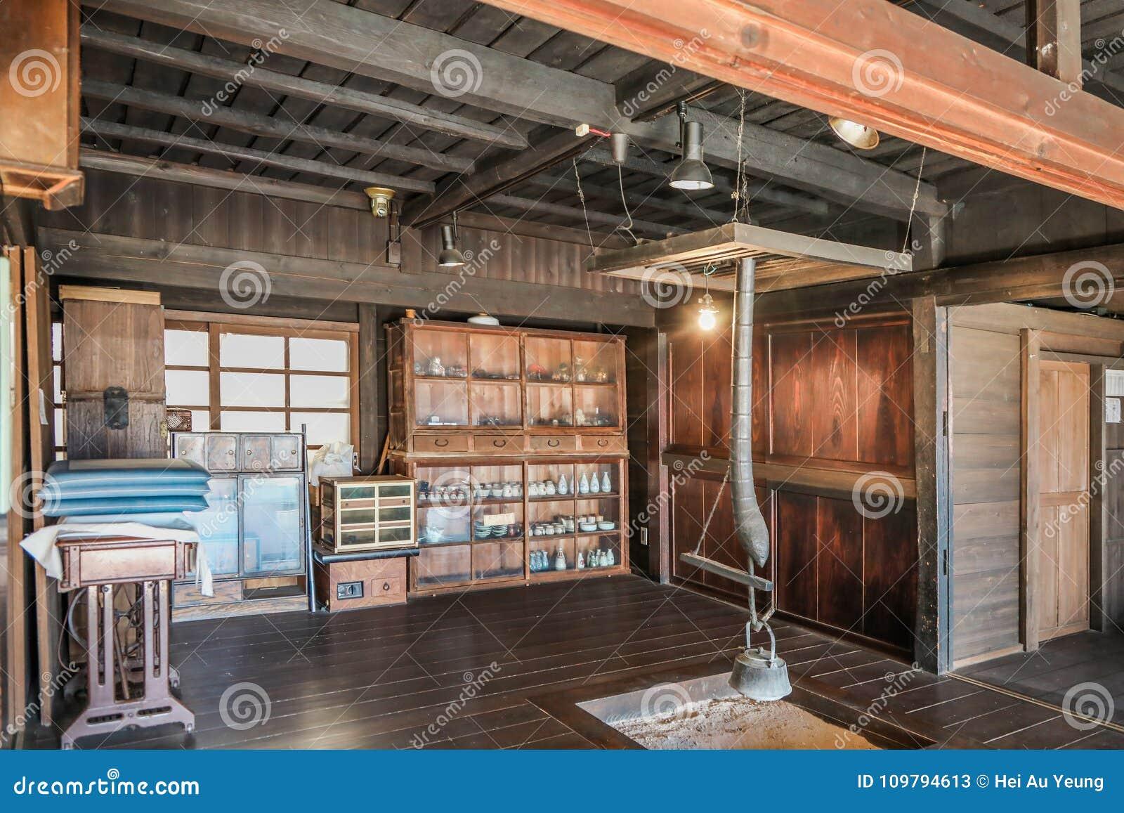 Interieur De Vieille Maison Japonaise Image Stock Image Du Module