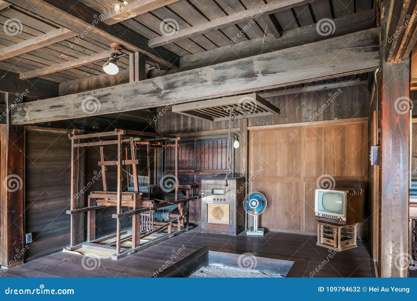 int rieur de vieille maison japonaise photo stock image du japonais home 109794632. Black Bedroom Furniture Sets. Home Design Ideas