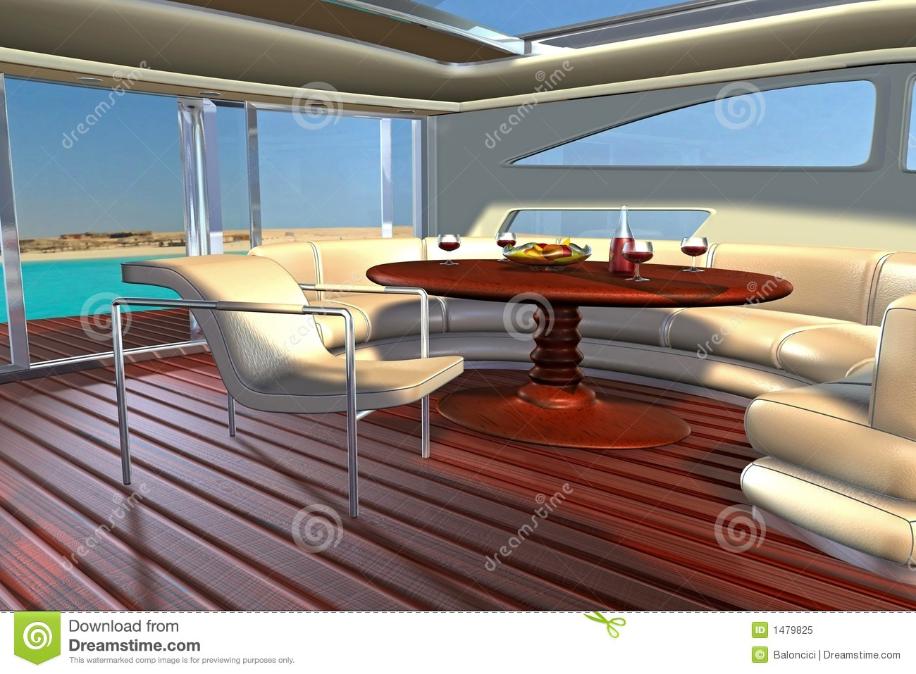 Int rieur de yacht - Photo interieur yacht de luxe ...