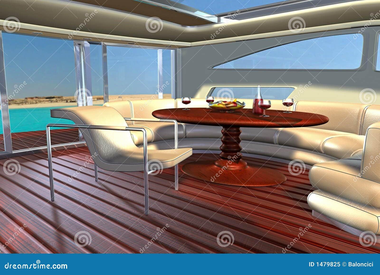 int 233 rieur de yacht