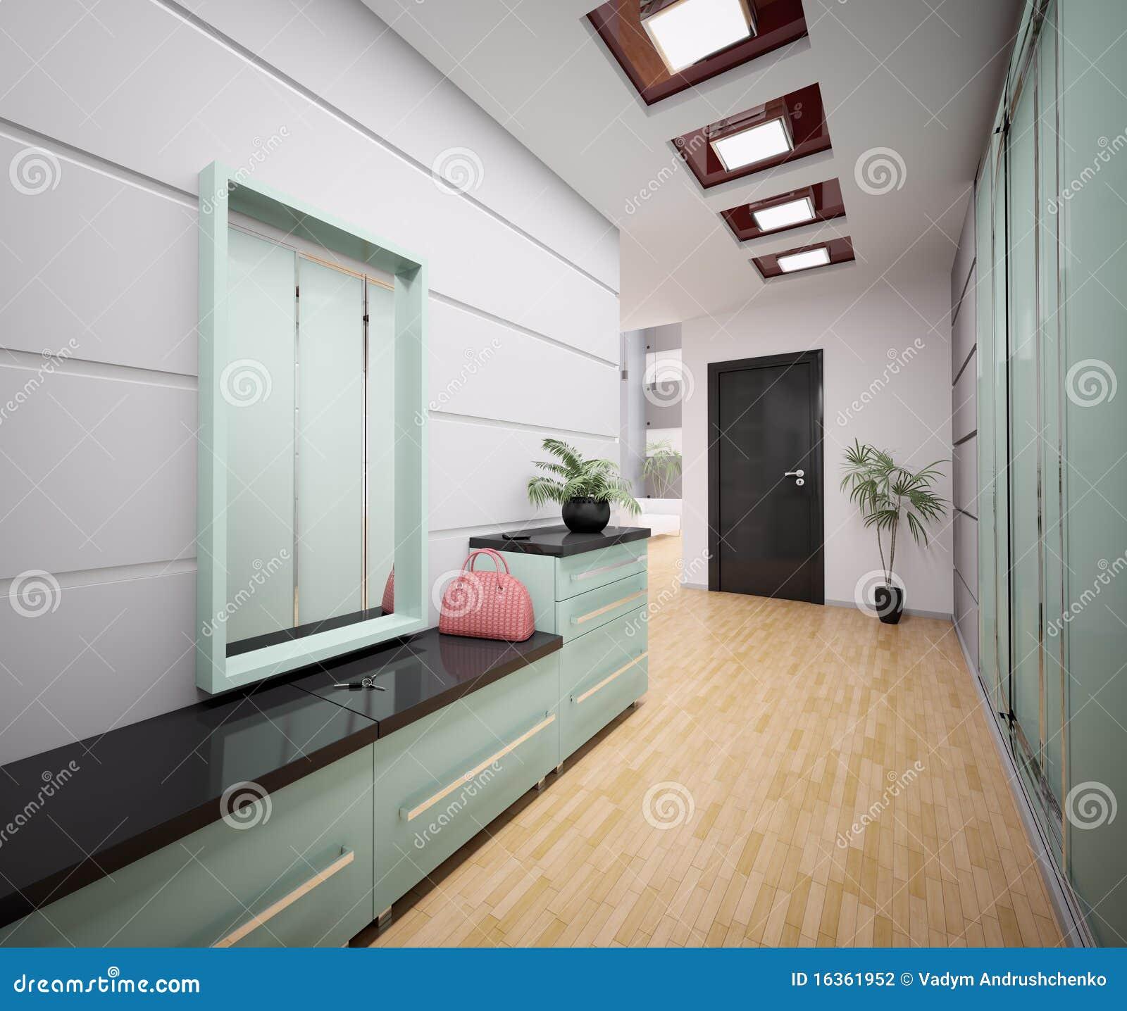 Intérieur Du Hall D\'entrée Moderne 3d Illustration Stock ...