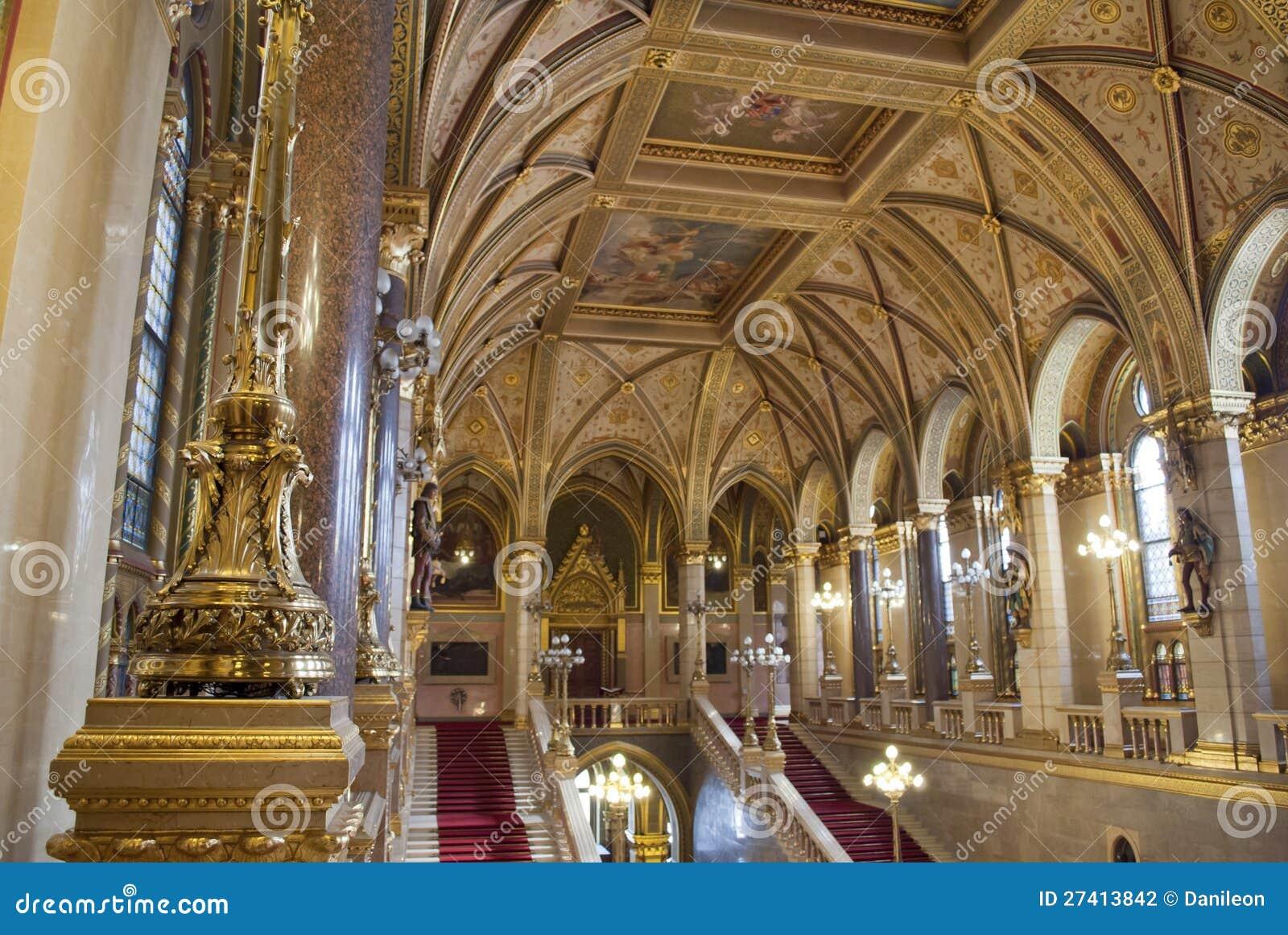 Int rieur du parlement budapest hongrie photographie for Interieur no 253