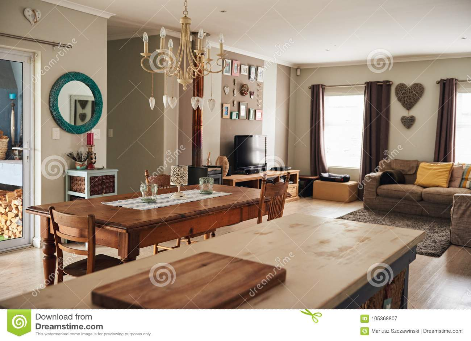 Intérieur Du Salon Confortable D\'une Maison Contemporaine Image ...