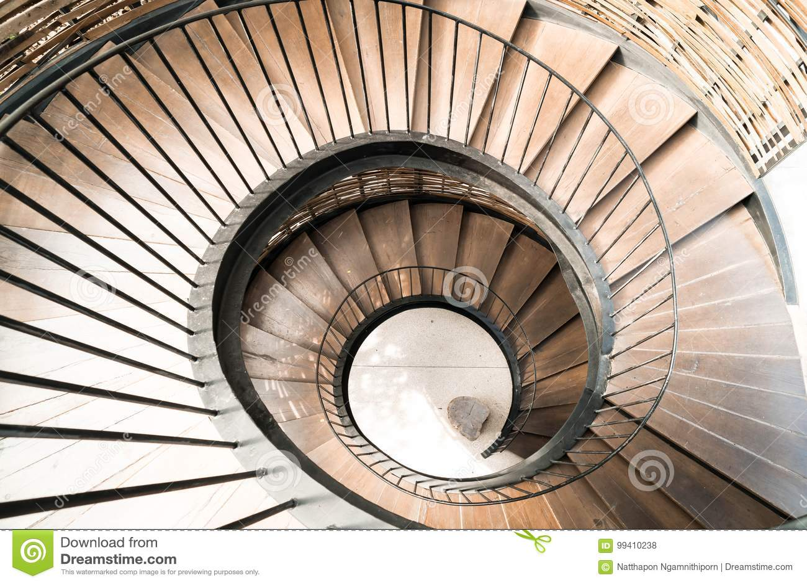 Intérieur En Spirale De Décoration D\'escalier De Cercle ...