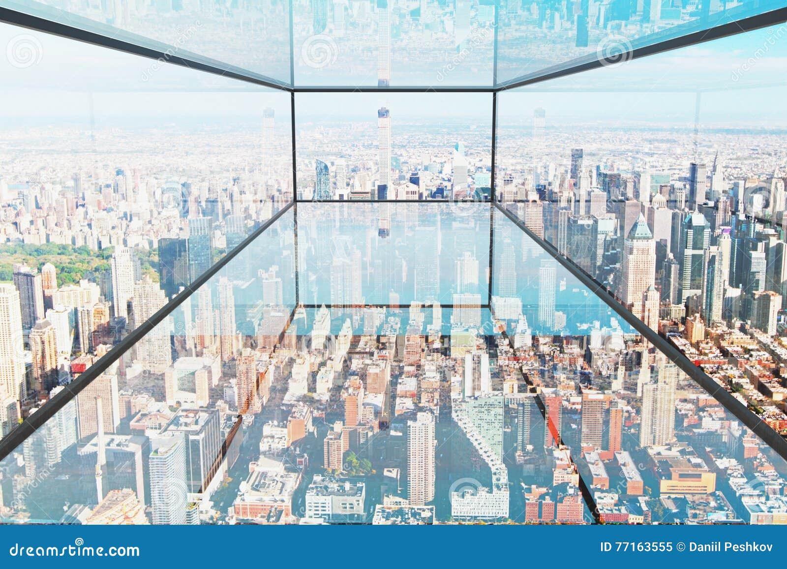 Intérieur en verre transparent
