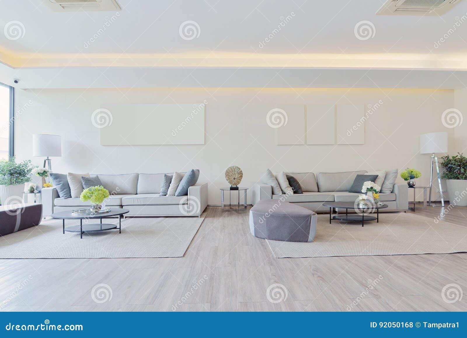 Intérieur et décoration vivants modernes de luxe blancs, DES intérieur