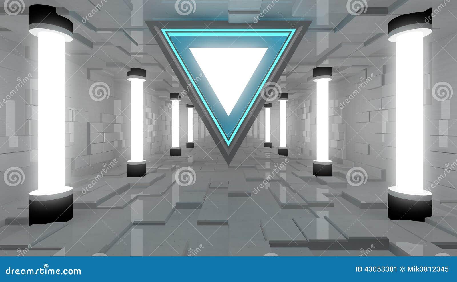 int rieur futuriste illustration stock image 43053381. Black Bedroom Furniture Sets. Home Design Ideas