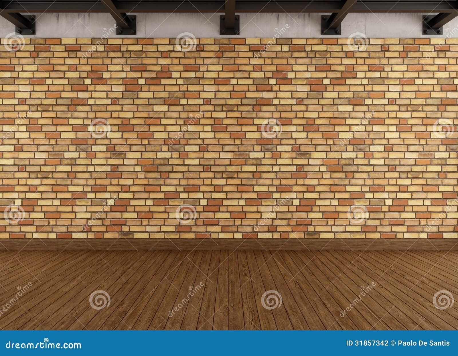 Int rieur grunge moderne avec le mur de briques - Mur en brique interieur ...
