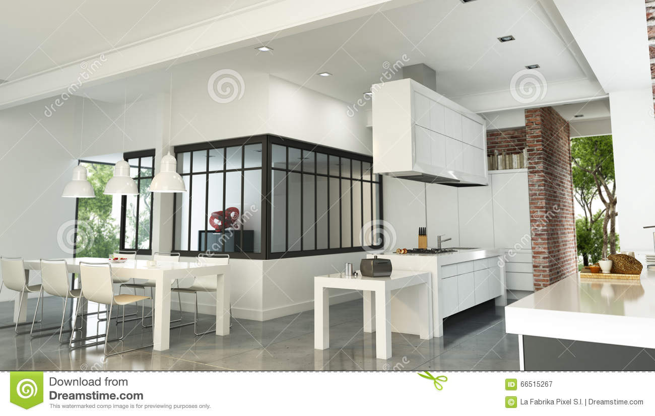 Int rieur industriel luxueux de maison de style illustration stock image 6 - Interieur style industriel ...