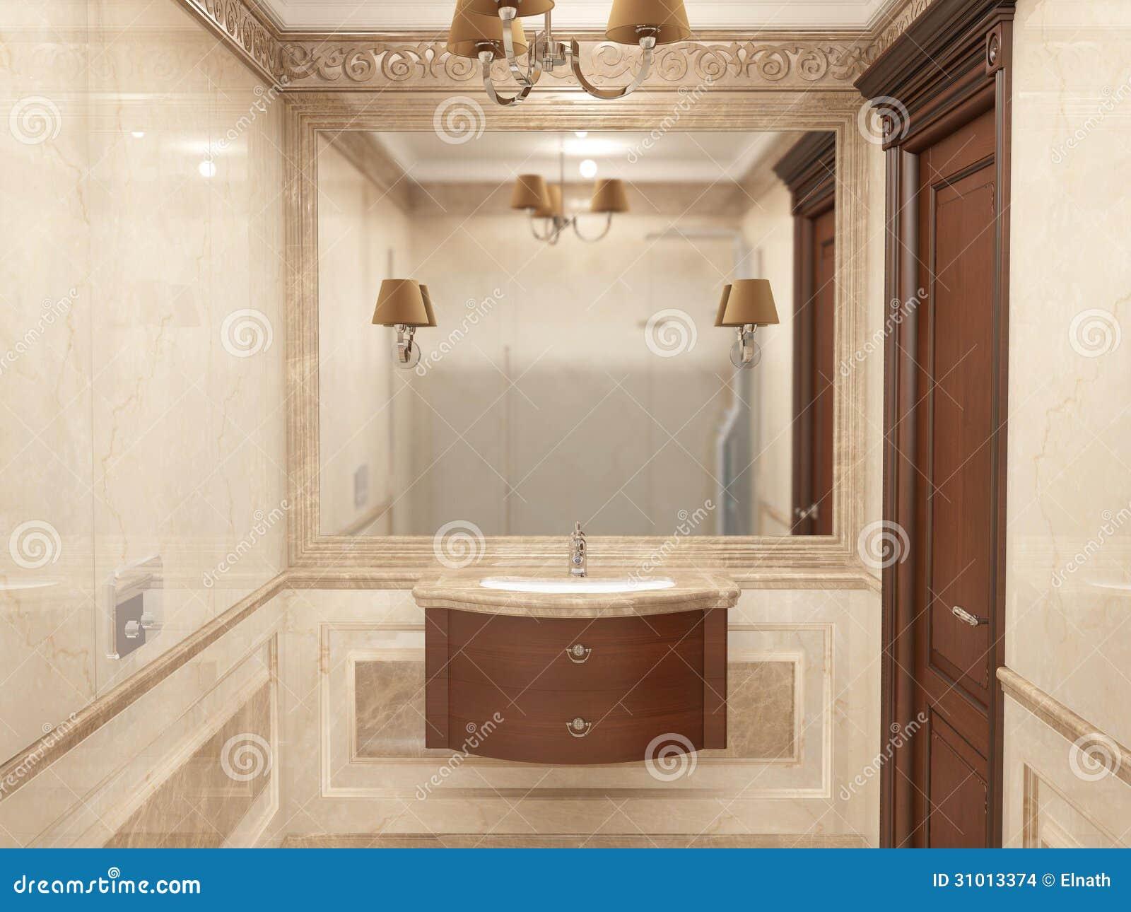 Int rieur la salle de bains dans le style classique images for Interieur salle de bain